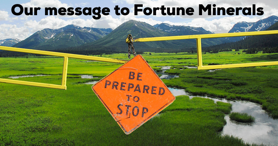 Our message to Fortune Minerals